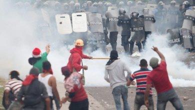 Photo de Sur les manifestations qui bloquent le Honduras